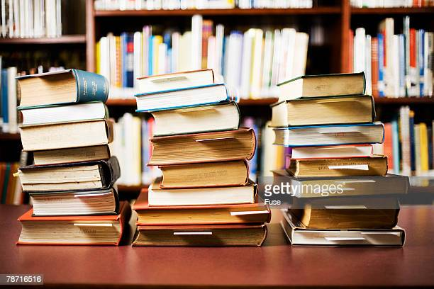 Stacks of Library Books
