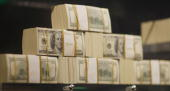 Stacks of money are seen in what is being called a firstofitskind exhibit of five million dollars in cash at the Seminole Hard Rock Hotel Casino on...