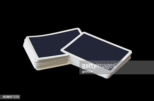 Stacks of playing cards : Stock Photo
