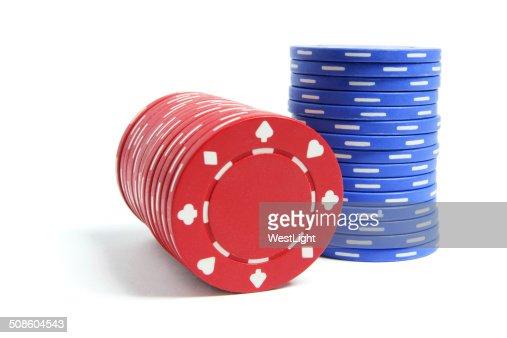 Pilas de póquer Chips : Foto de stock