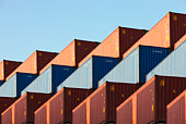 Stacks of Shipping Containers