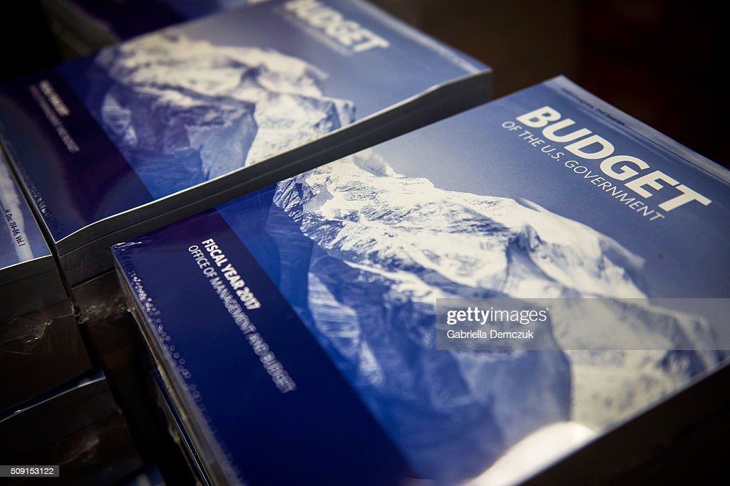 Stacks of the President's Fiscal Year 2017 Budget sit in the House Budget Committee Room in the Cannon House Office Building on February 9, 2016 in Washington, D.C.President Obama releases his $4 trillion-plus budget in his final year at the White House.