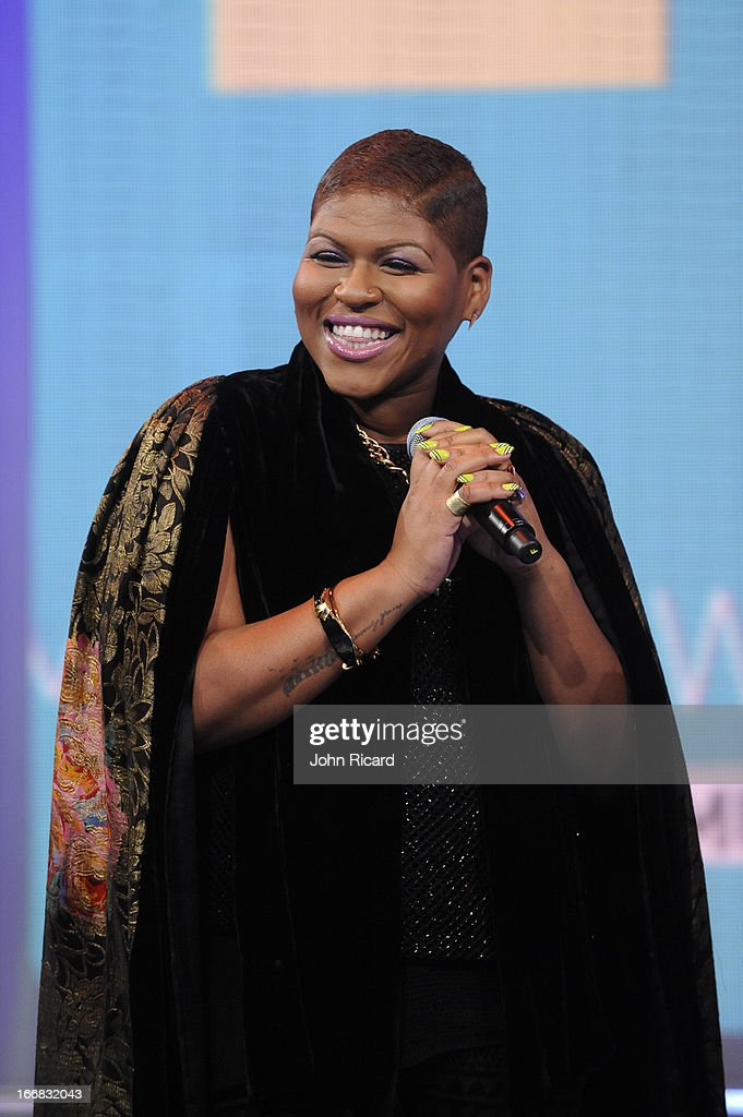 Stacy Barthe visits BET's '106 & Park' at BET Studios on April 17, 2013 in New York City.