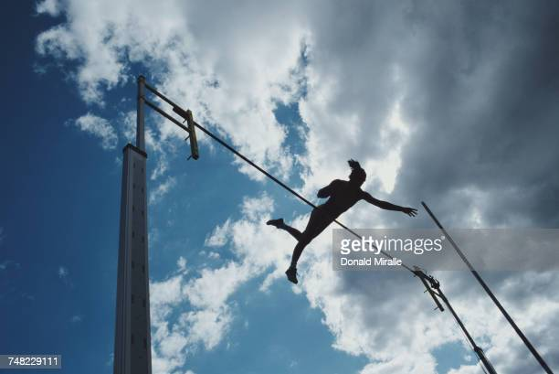 Stacy Dragila clears the bar during the Women's Pole Vault event at the United States Track and Field Championships on 26 June 1999 at Hayward Field...