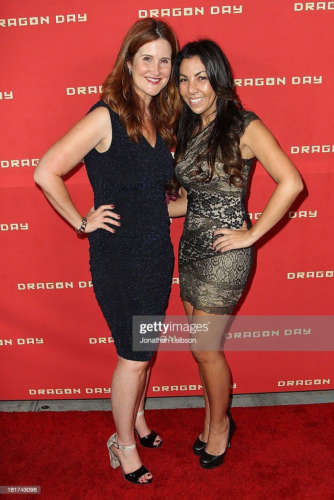 Stacy Ekstein and Angela Francis attend the 'Dragon Day' Red Carpet at Downtown Independent Theatre on September 23, 2013 in Los Angeles, California.