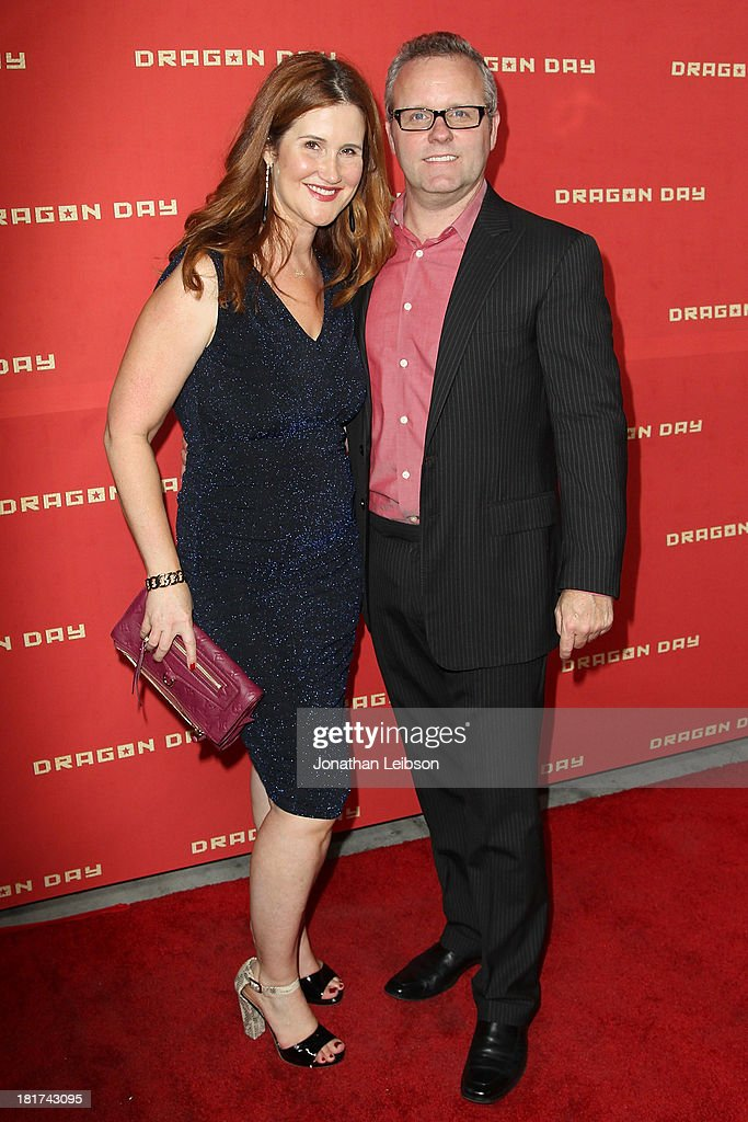 Stacy Ekstein and Devin Carbaugh attend the 'Dragon Day' Red Carpet at Downtown Independent Theatre on September 23, 2013 in Los Angeles, California.