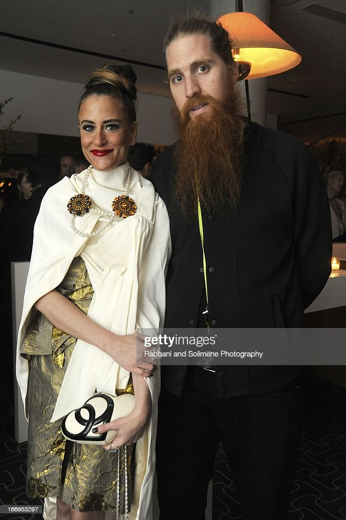 Stacy Engman and Duffy Engman attends the Stefano Tonchi Celebrates W Magazine's Modern Beauty Issue Honoring Tilda Swinton at the Perry Street Restaurant on April 18, 2013 in New York City.