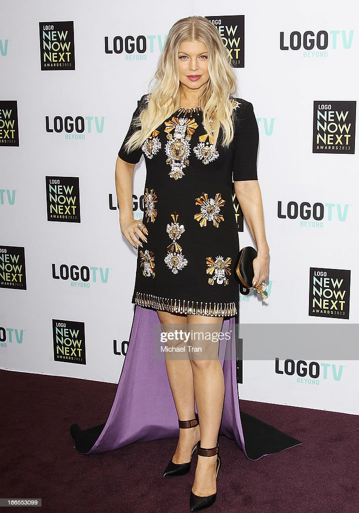Stacy Ferguson aka Fergie arrives at the Logo NewNowNext Awards 2013 held at The Fonda Theatre on April 13, 2013 in Los Angeles, California.