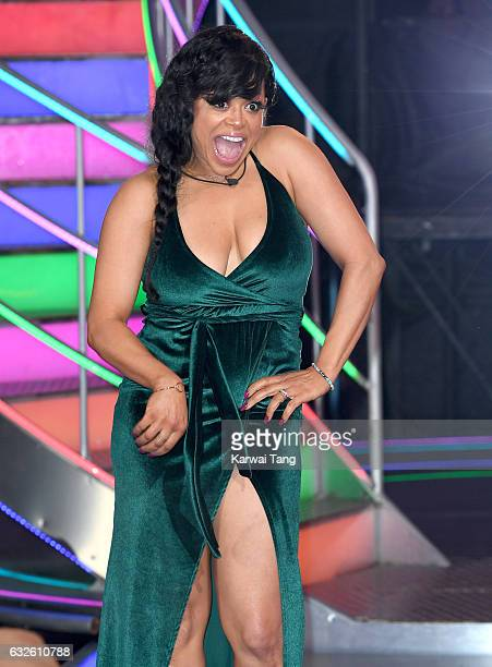 Stacy Francis is the 6th housemate evicted from the Celebrity Big Brother house at Elstree Studios on January 24 2017 in Borehamwood England