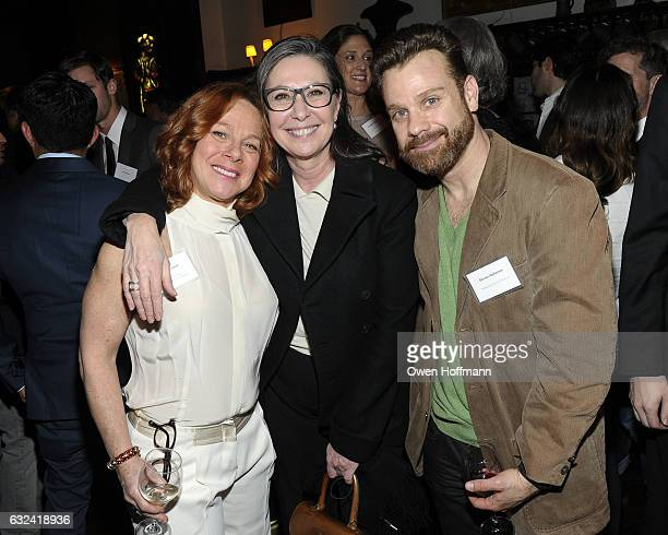 Stacy Herman Donna Gigliotti and Steven Holtzman attend The Players Hosts Producers Guild at The Players on January 19 2017 in New York City