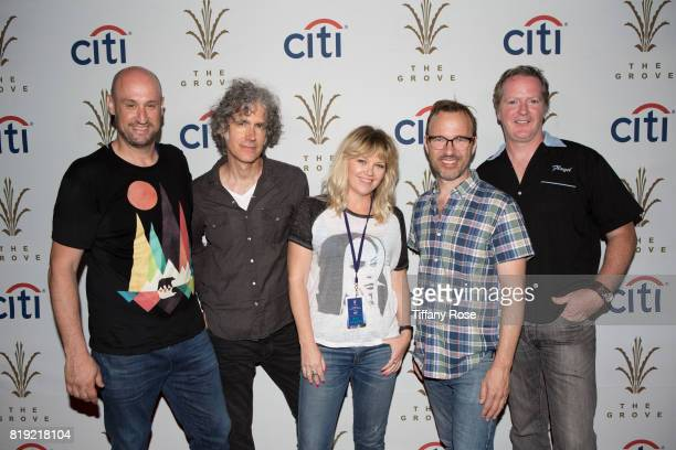 Stacy Jones Greg McKenna Kay Hanley Michael Eisenstein of Letters to Cleo and guest attend The Grove's Summer Concert Series Presented by Citi at The...