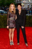 Stacy Keibler and designer Rachel Roy attend the Costume Institute Gala for the 'PUNK Chaos to Couture' exhibition at the Metropolitan Museum of Art...