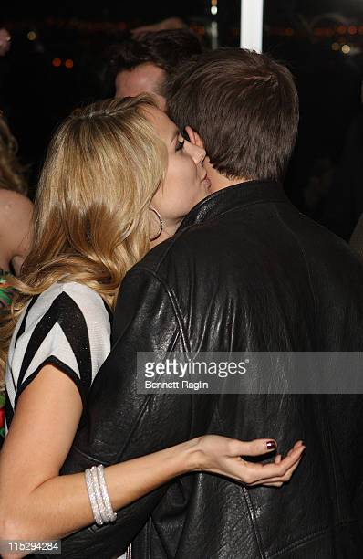 COVERAGE* Stacy Keibler and Geoff Stults attend the Hennessy Late Night Lounge at Super Bowl XVII February 1 2008 in Scottsdale Arizona