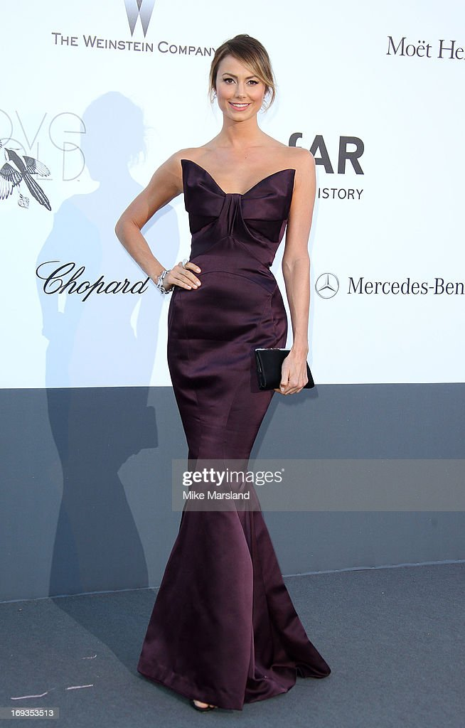 Stacy Keibler arrives at amfAR's 20th Annual Cinema Against AIDS at Hotel du Cap-Eden-Roc on May 23, 2013 in Cap d'Antibes, France.