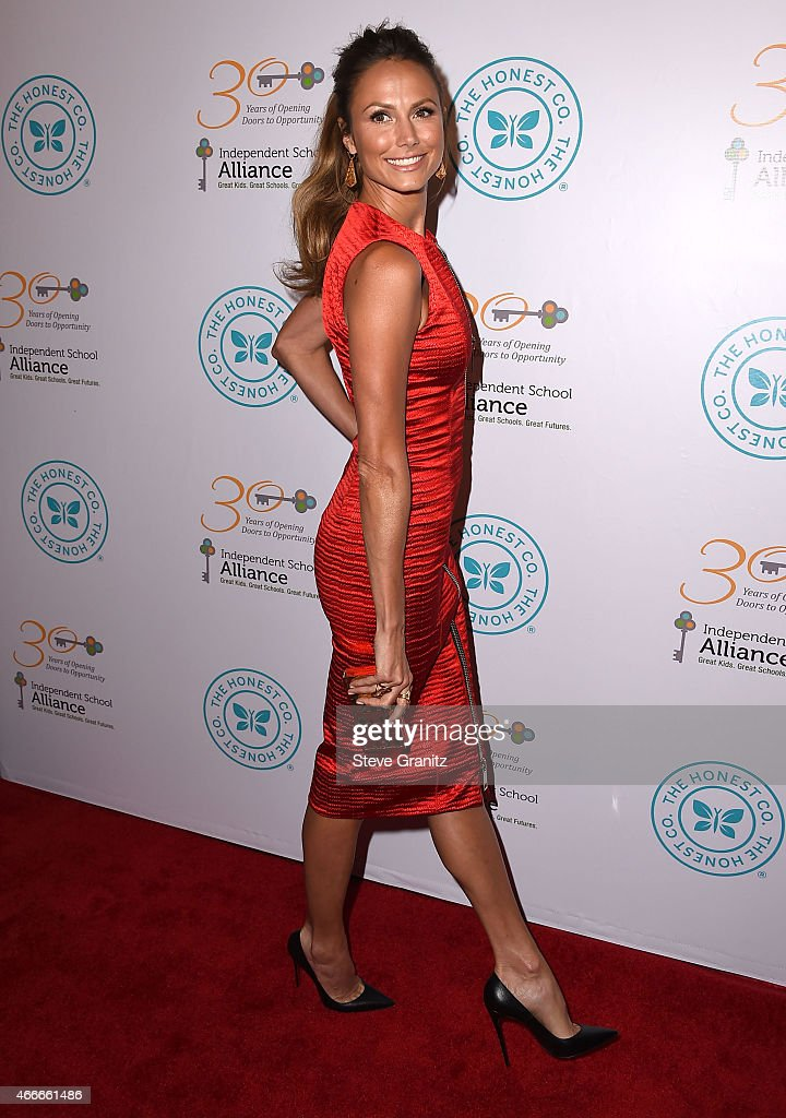 Stacy Keibler arrives at the The Independent School Alliance For Minority Affairs Impact Awards Dinner at Four Seasons Hotel Los Angeles at Beverly Hills on March 17, 2015 in Los Angeles, California.