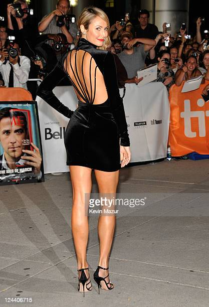 Stacy Keibler arrives to 'The Ides Of March' premiere at Roy Thomson Hall during the 2011 Toronto International Film Festival on September 9 2011 in...