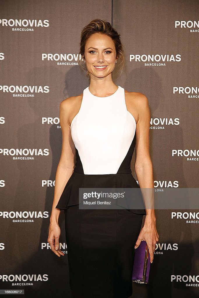 Stacy Keibler attend the Pronovias bridal fashion show during Barcelona Bridal Week 2013 on May 3, 2013 in Barcelona, Spain.