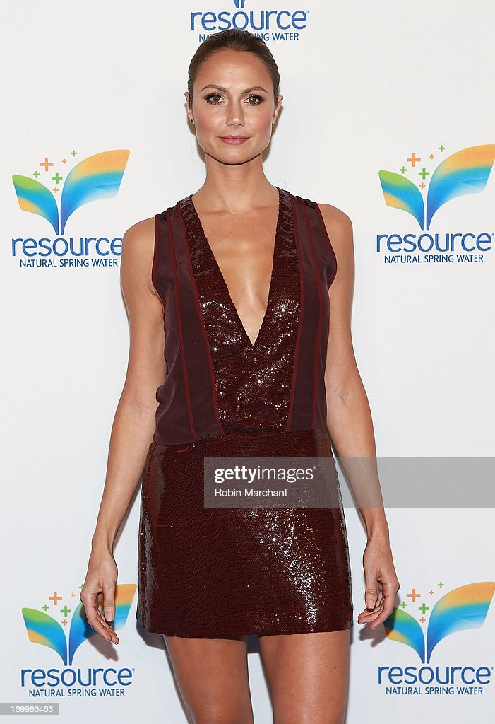 Stacy Keibler attends Natural Spring Water Resource Launch Event at Pier 36 on June 5, 2013 in New York City.