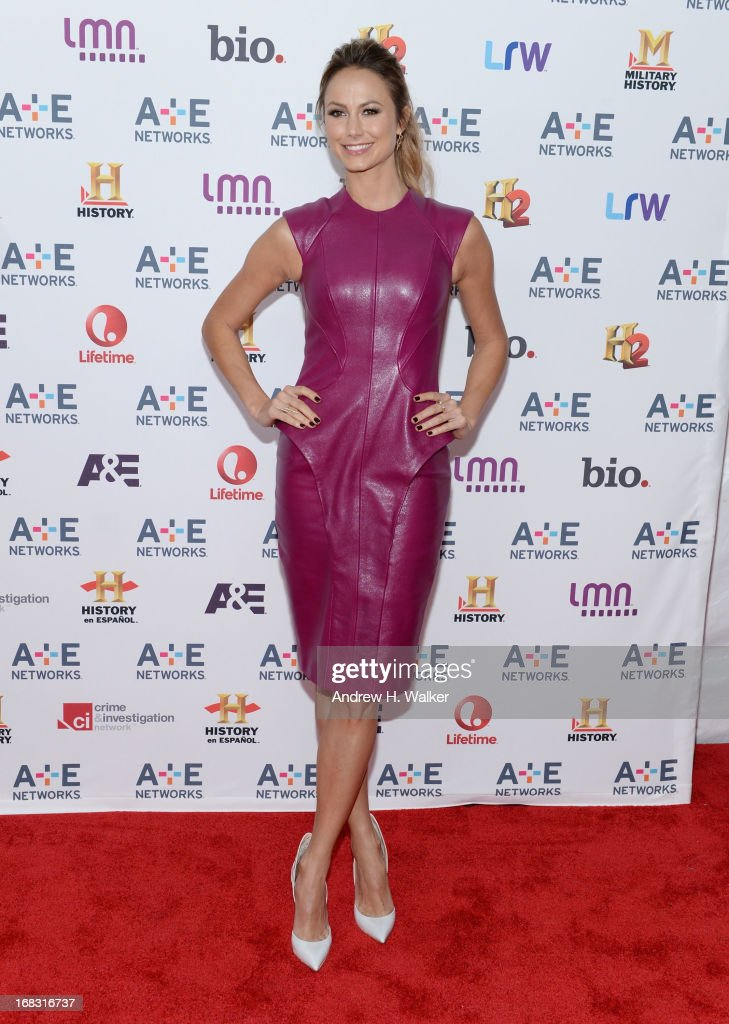 Stacy Keibler attends the A+E Networks 2013 Upfront on May 8, 2013 in New York City.