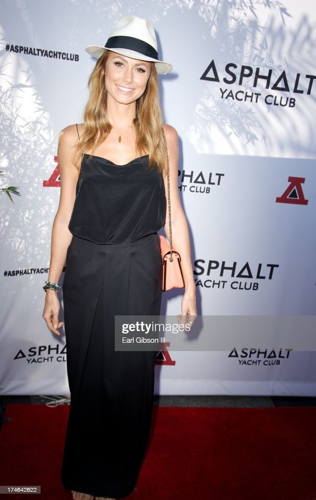 <a gi-track='captionPersonalityLinkClicked' href=/galleries/search?phrase=Stacy+Keibler&family=editorial&specificpeople=3031844 ng-click='$event.stopPropagation()'>Stacy Keibler</a> attends the Asphalt Yacht Club's launch of their apparel line at Malibu Inn on July 27, 2013 in Malibu, California.