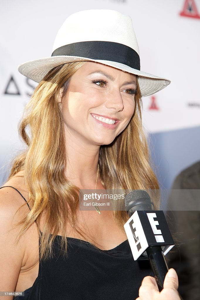 Stacy Keibler attends the Asphalt Yacht Club's launch of their apparel line at Malibu Inn on July 27, 2013 in Malibu, California.
