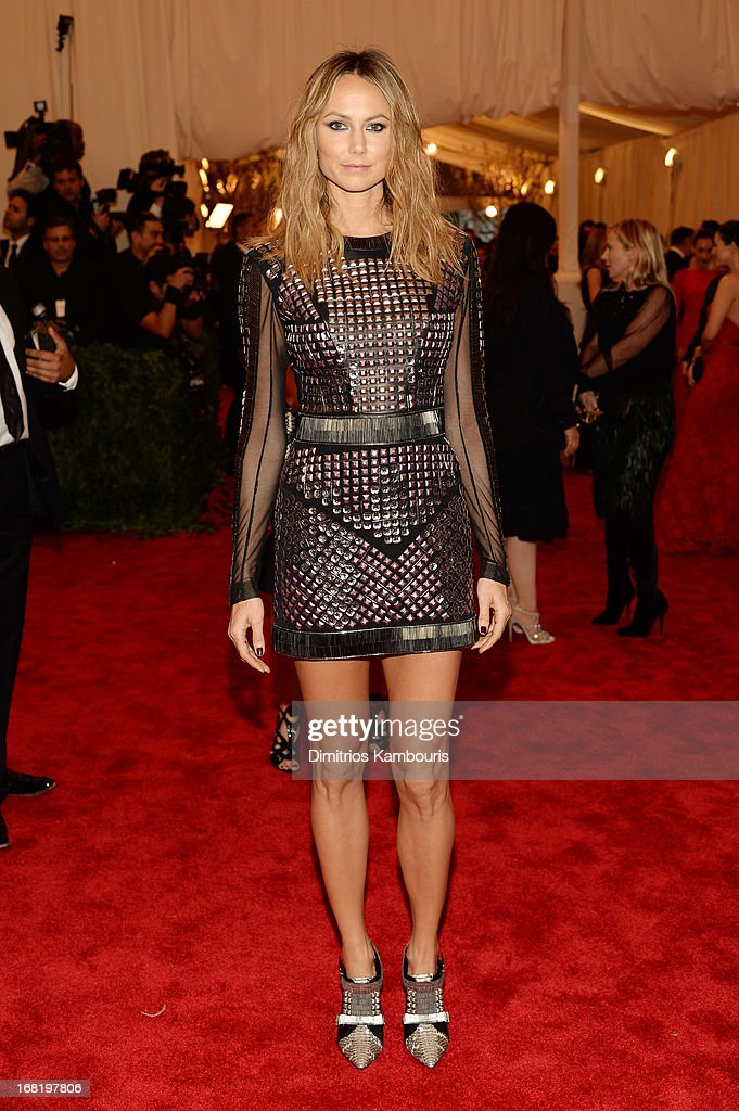 Stacy Keibler attends the Costume Institute Gala for the 'PUNK: Chaos to Couture' exhibition at the Metropolitan Museum of Art on May 6, 2013 in New York City.