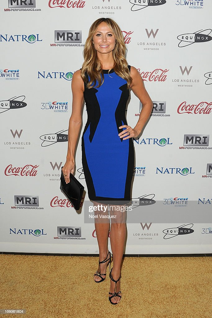 <a gi-track='captionPersonalityLinkClicked' href=/galleries/search?phrase=Stacy+Keibler&family=editorial&specificpeople=3031844 ng-click='$event.stopPropagation()'>Stacy Keibler</a> attends the 'Gold Meets Golden' event hosted at Equinox on January 12, 2013 in Los Angeles, California.