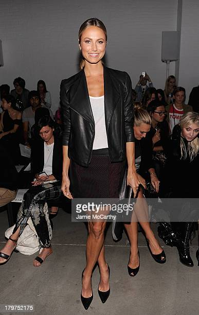 Stacy Keibler attends the Helmut Lang show during Spring 2014 MercedesBenz Fashion Week at 545 West 22nd Street on September 6 2013 in New York City