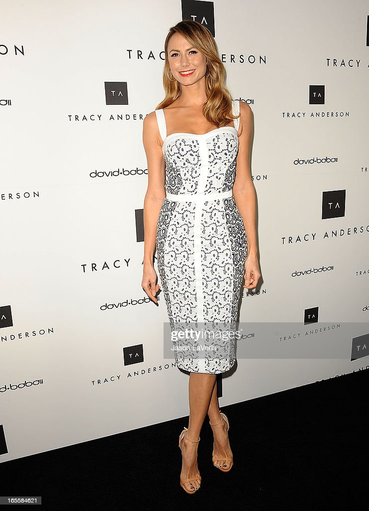 Stacy Keibler attends the opening of Tracy Anderson Flagship Studio on April 4, 2013 in Brentwood, California.