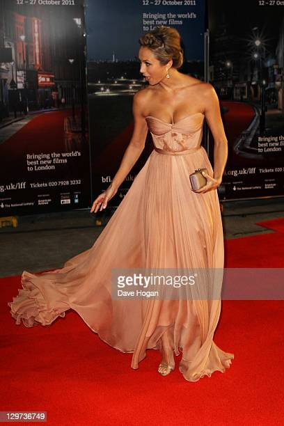 Stacy Keibler attends the premiere for 'The Descendants' at The 55th BFI London Film Festival at The Odeon Leicester Square on October 20 2011 in...