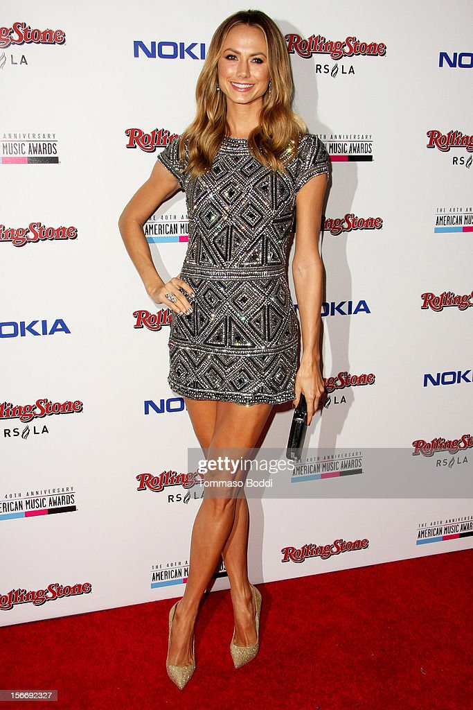 Stacy Keibler attends the Rolling Stone after party for the 2012 American Music Awards presented by Nokia and Rdio held at the Rolling Stone Restaurant And Lounge on November 18, 2012 in Los Angeles, California.