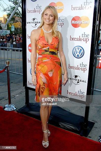 Stacy Keibler during 'The Break Up' Los Angeles Premiere Arrivals at Mann Village Theatre in Westwood California United States