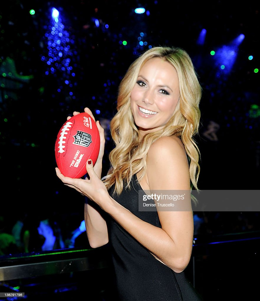 Stacy Keibler hosts Big Game Eve at Bank Nightclub, Bellagio Hotel And Casino Resort on February 4, 2012 in Las Vegas, Nevada.