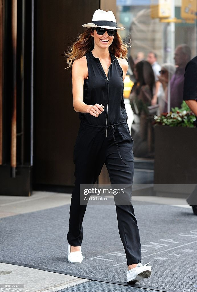 Stacy Keibler is seen in Soho on September 9, 2013 in New York City.