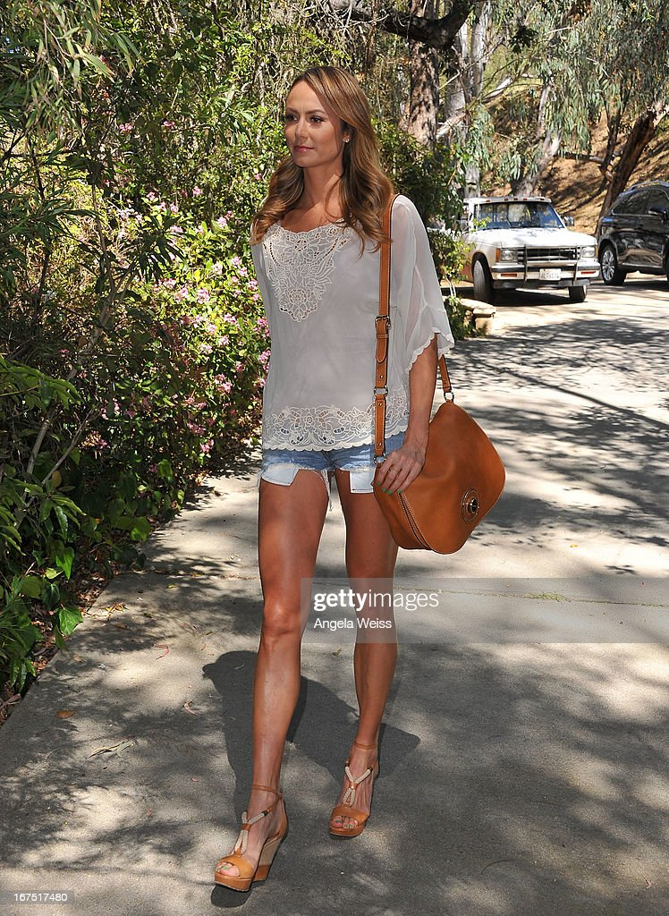 Stacy Keibler is seen on April 25, 2013 in Studio City, California.
