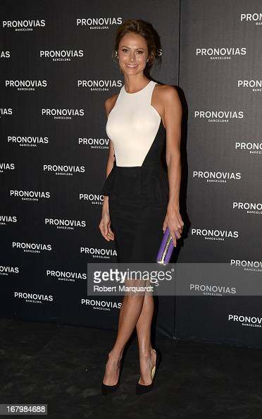 Stacy Keibler poses for a photocall before the Pronovias bridal fashion show during Barcelona Bridal Week 2013 on May 3 2013 in Barcelona Spain