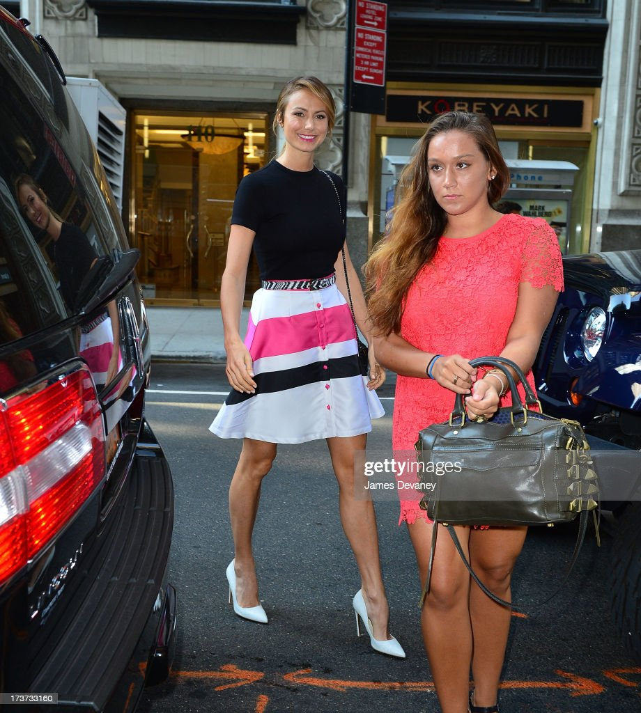 <a gi-track='captionPersonalityLinkClicked' href=/galleries/search?phrase=Stacy+Keibler&family=editorial&specificpeople=3031844 ng-click='$event.stopPropagation()'>Stacy Keibler</a> seen on the streets of Manhattan on July 17, 2013 in New York City.