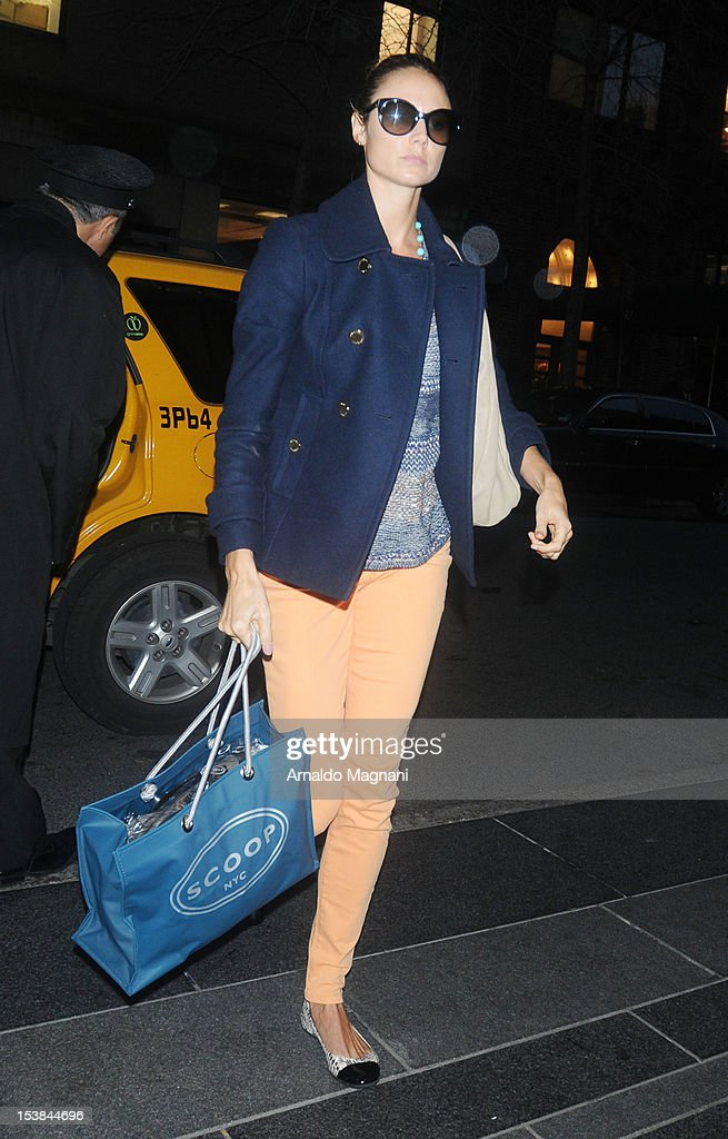 Stacy Keibler sighting on October 9, 2012 in New York City.