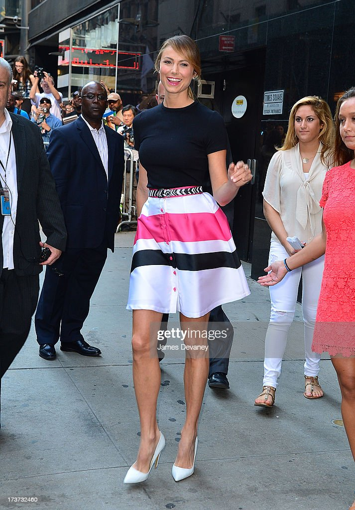 <a gi-track='captionPersonalityLinkClicked' href=/galleries/search?phrase=Stacy+Keibler&family=editorial&specificpeople=3031844 ng-click='$event.stopPropagation()'>Stacy Keibler</a> visits ABC's 'Good Morning America' on July 17, 2013 in New York, United States.