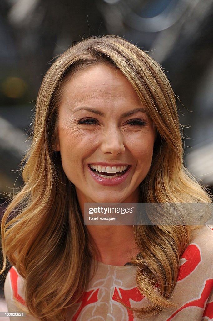 Stacy Keibler visits 'Extra' at The Grove on April 17, 2013 in Los Angeles, California.