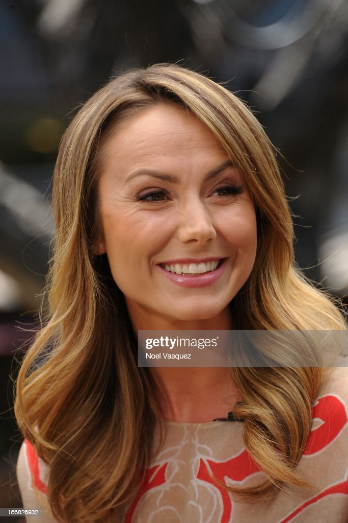 <a gi-track='captionPersonalityLinkClicked' href=/galleries/search?phrase=Stacy+Keibler&family=editorial&specificpeople=3031844 ng-click='$event.stopPropagation()'>Stacy Keibler</a> visits 'Extra' at The Grove on April 17, 2013 in Los Angeles, California.