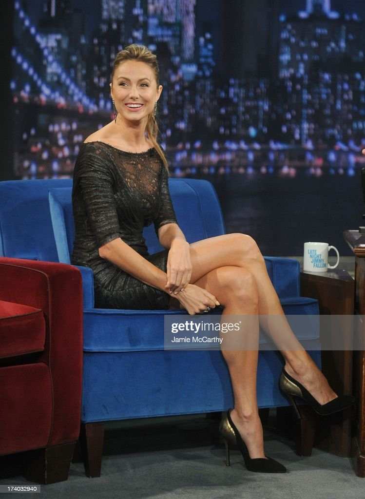 <a gi-track='captionPersonalityLinkClicked' href=/galleries/search?phrase=Stacy+Keibler&family=editorial&specificpeople=3031844 ng-click='$event.stopPropagation()'>Stacy Keibler</a> visits 'Late Night With Jimmy Fallon' at Rockefeller Center on July 19, 2013 in New York City.