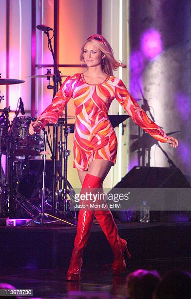 Stacy Keibler wearing Tommy Hilfiger during 13th Annual Race to Erase MS 'Disco Fever to Erase MS' Show at Hyatt Regency Century Plaza in Century...