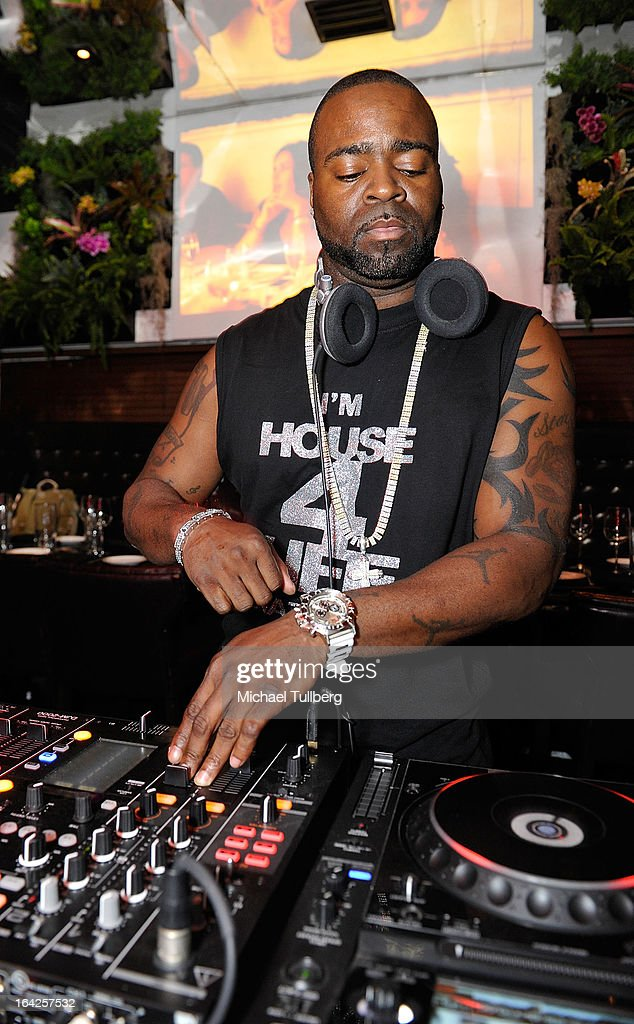 DJ Stacy Kidd spins during Winter Music Conference 2013 on March 21, 2013 in Miami Beach, Florida.