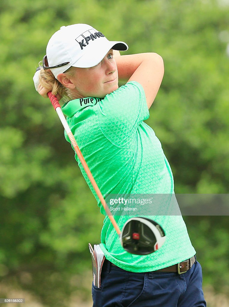 <a gi-track='captionPersonalityLinkClicked' href=/galleries/search?phrase=Stacy+Lewis&family=editorial&specificpeople=4217318 ng-click='$event.stopPropagation()'>Stacy Lewis</a> hits her tee shot on the second hole during the second round of the Volunteers of America Texas Shootout at Las Colinas Country Club on April 29, 2016 in Irving, Texas.