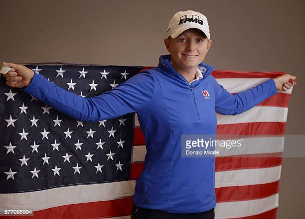 Stacy Lewis poses for a portrait during the KIA Classic at the Park Hyatt Aviara Resort on March 22 2016 in Carlsbad California