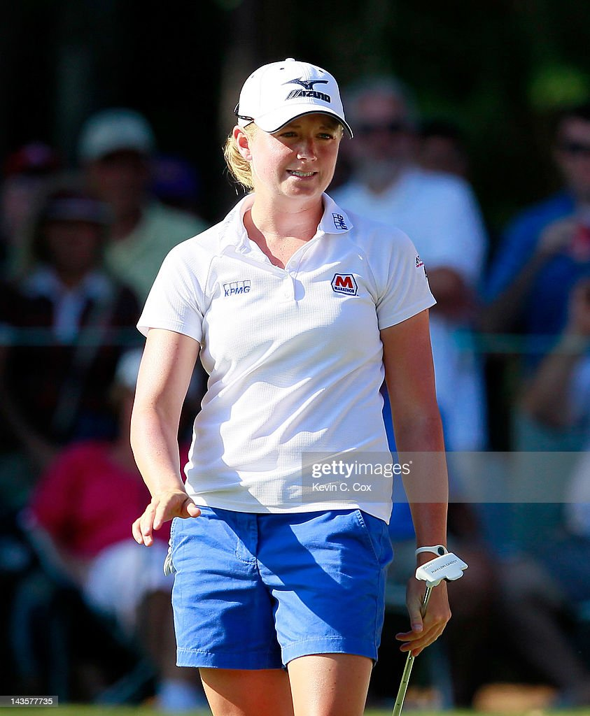 <a gi-track='captionPersonalityLinkClicked' href=/galleries/search?phrase=Stacy+Lewis&family=editorial&specificpeople=4217318 ng-click='$event.stopPropagation()'>Stacy Lewis</a> reacts after her birdie putt on the 18th green to set up a short par putt for the win during the final round of the Mobile Bay LPGA Classic at the Crossings Course at the Robert Trent Jones Trail at Magnolia Grove on April 29, 2012 in Mobile, Alabama.