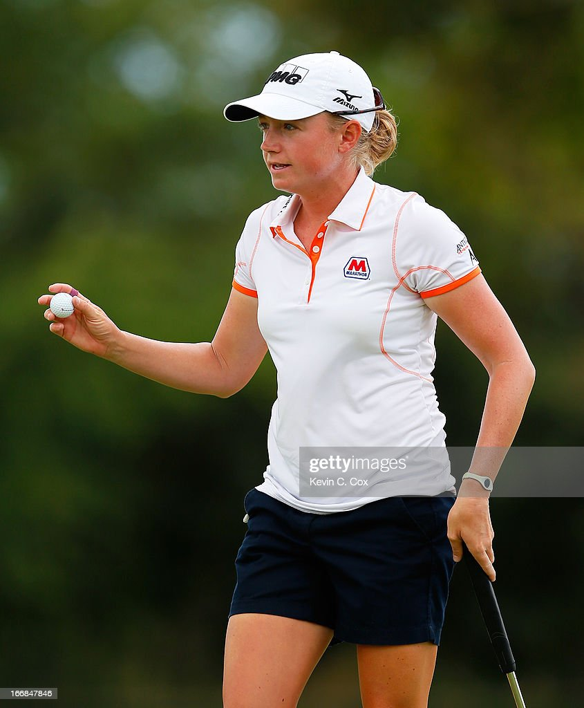 <a gi-track='captionPersonalityLinkClicked' href=/galleries/search?phrase=Stacy+Lewis+-+Golfer&family=editorial&specificpeople=4217318 ng-click='$event.stopPropagation()'>Stacy Lewis</a> reacts after her putt on the second green during the first round of the LPGA LOTTE Championship Presented by J Golf at the Ko Olina Golf Club on April 17, 2013 in Kapolei, Hawaii.