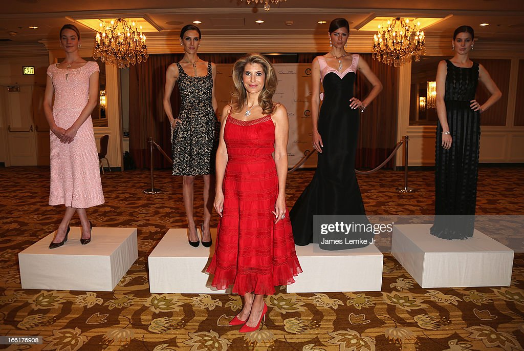 Stacy Lobb, Jenna Hurt, Alexandra Dwek, Beth Ostendorf and Michelle Box attend The Colleagues 25th annual spring luncheon honoring Wallis Annenberg held at the Beverly Wilshire Four Seasons Hotel on April 9, 2013 in Beverly Hills, California.