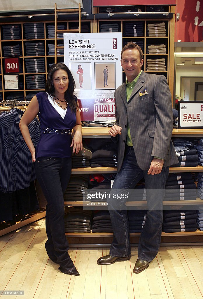 Stacy London and Clinton Kelly during Levi's 'Fit Experience' Launch at Levi's Store in New York City New York United States